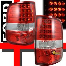 2004-2008 Ford F150 XL XLT STX FX4 Pickup Red G2 LED Tail Lights Lamps