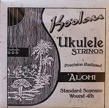 Ukulele strings Ko'olau 'Alohi soprano regular tuning wound 4th KAS4