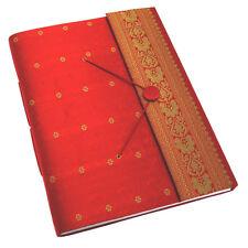 Commerce Équitable Fait Main Grand Sari Album Photo Scrapbook Rouge