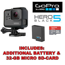 GoPro HERO5 Black Edition 4K HD Waterproof Action Camera +32GB SD-Card + Battery