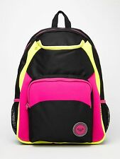 NEW* ROXY BACKPACK BOOK SCHOOL STUDENT Bag Dive In Black Pink