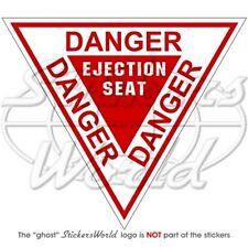 """DANGER Ejection Seat RAF USAF NATO Martin Baker 120mm (4,7"""") Vinyl Sticker Decal"""