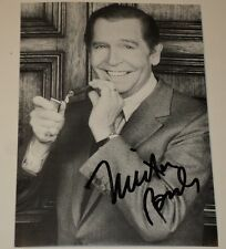"MILTON BERLE / TV LEGEND /   4 1/4  X 6""  AUTOGRAPHED  PHOTO  CARD"