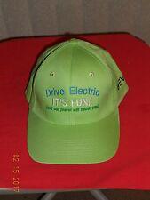 """DRIVE ELECTRIC - IT'S FUN !!"" - LIME GREEN BASEBALL HAT"