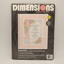 Dimensions Counted Cross Stitch Kit In Love United Personalized NEW Karen Avery