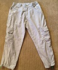 Vintage Anchor Blue Gray DANCE RAVER MEN'S PARACHUTE PANTS 34 X 30 Cargo Pockets