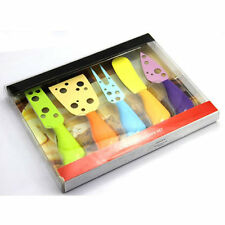 5pcs/set Colourful Cheese Cutter Butter Knife Spreader Set in PE Package