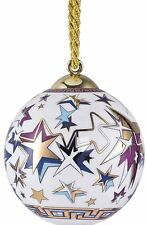 VERSACE ORNAMENT BALL GOLD STARS 2015 ROSENTHAL New in box SALE