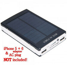 30000mAh Dual USB Portable Solar Battery Charger Power Bank for Cell Phone Black