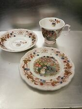 ROYAL DOULTON TRIO BRAMBLY HEDGE AUTUMN CUP SAUCER SIDE PLATE