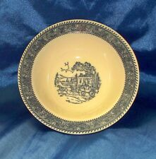Vintage Homer Laughlin Shakespeare Country Rim Cereal Bowl