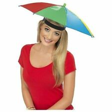 Unisex Multi Coloured Foldable Umbrella Hat Cap Golf Fishing Camping Fancy Dress