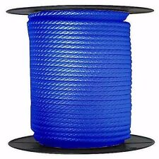 """ANCHOR ROPE DOCK LINE 3/8"""" X 50' BRAIDED 100% NYLON ROYAL BLUE MADE IN USA"""