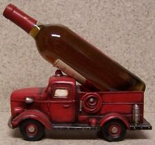 Wine Bottle Holder and/or Decorative Sculpture Antique Fire Truck NIB