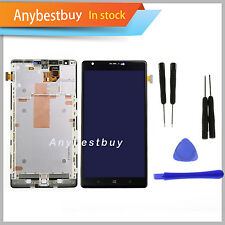 Black For Nokia Lumia 1520 LCD Panel Touch Screen Digitizer Assembly Frame Bezel