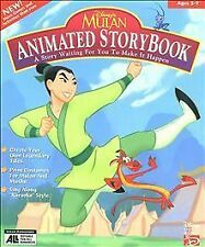 new DISNEY MULAN ANIMATED STORYBOOK GAME PC SOFTWARE CD ROM DISC COMPLETE
