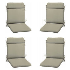 Patio Cushion Set Garden Outdoor Dining Chair Replacement Furniture Grey 4 Pack