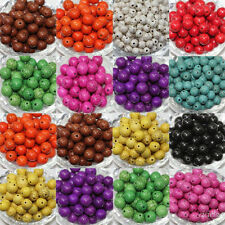 6MM Colorful 80Pcs Turquoise Round Charm Loose Spacer Beads Jewelry Making DIY
