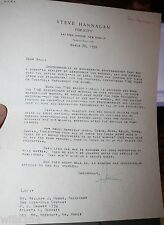 1950 Letter To President Coca-cola  Hobbs on preparing for Time magazine article