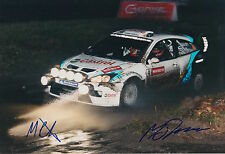 Markko Martin and Michael Park Hand Signed 12x8 Photo Ford Rally.