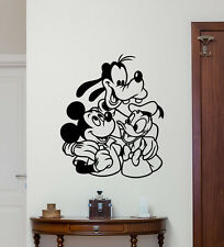 Mickey Mouse Goofy Donald Duck Wall Decal Vinyl Sticker Disney Poster Art 267hor
