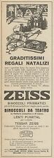 Z3040 ZEISS Binoccoli da Teatro - Pubblicità d'epoca - 1927 old advertising