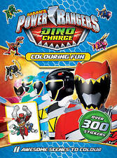 NEW  POWER RANGERS  COLOURING FUN over 300 STICKERS  DINO CHARGE awesome scenes
