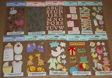 Lot #5 of 11 Sheets AMERICAN GREETINGS Creative Touch BABY 3D Stickers SCRAPBOOK