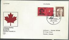 1973 Lufthansa Cover Boeing 707 Flight Frankfurt to Toronto