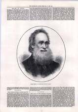 1872 Robert Moffat Missionary Of South Africa Engraved Portrait