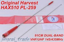 New Arrival! Harvest 91cm Cool Red HAX-510 DUAL BAND Antenna PL259 for Car Radio