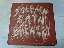 Beer Brewery Coaster ~*~ SOLEMN OATH Brewery Since 2012 ~* Naperville, ILLINOIS