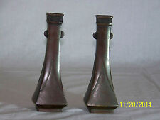 Chinese Qing Dy c18th C Imperial Bronze Hand Formed Pair Vases