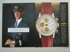 8/1988 PUB MONTRE BREITLING WATCHES OLD NAVITIMER PILOTE PILOT CAPTAIN FRENCH AD
