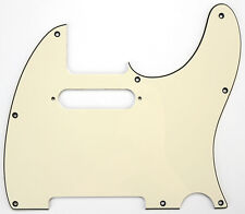 Tele Pickguard CREAM Aged White 3 Ply for USA Mexican Fender Telecaster Guitar