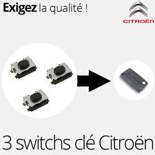 3 X Switch pour clé télécommande Citroen Jumpy 3, Berlingo B9 - SW04