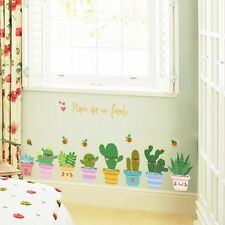 Colorful Plants Are Friends Happy Cactus Wall Sticker Decal | Kindergarden Decor