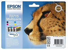 T0715 Multipack Cartucce Di Inchiostro Nuovo & Sealed Genuine Epson Bargain