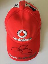 Jenson Button Hand Signed Cap McLaren Mercedes Formula 1 World Champion.