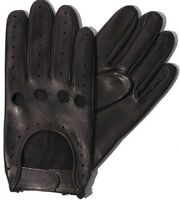 MENS SLIM FIT DRIVING GLOVES CHAUFFEUR LAMBSKIN LEATHER DRESS FASHION MOTOR BIKE