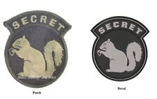 Military Black Ops Army Navy Secret Squirrel ACU Light Patch Sticker Decal Combo