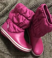 Crocs Winter Puff Boot Shoes Womens Size 7 Berry