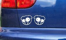 50mm (5cm) Small Pigs Vinyl Stickers Decals Graphics JDM For Subaru DUB VW EURO