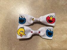 Mini Big Bird Cookie Monster Elmo Hair Bows with Alligator Clips