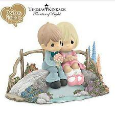 Precious Moments Thomas Kinkade Limited Edition Love Bridges Our Hearts Boy Girl