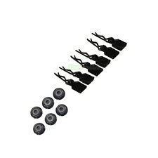 6 X RC Black Car Body Clips + Tabs & 6 X M4 4mm Wheel Nuts 1/10 1/12 1/16 Tamiya
