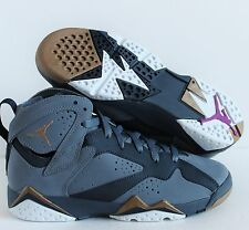 NIKE AIR JORDAN 7 RETRO (GG) BLUE DUSK-GOLD SZ 5Y//WOMENS SZ 6.5 [442960-407]