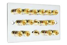 LASTRA PIANA 7.2 Speaker Wall Face PLATE SPECCHIO CHROME vincolante posti AUDIO RCA