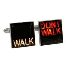 US American Crosswalk Sign WALK/DONT WALK Cufflinks NYC Times Square New & Boxed