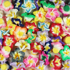 100pcs 20mm Mixed Polymer Fimo Clay 5-leaves Flower Spacer Loose Beads,